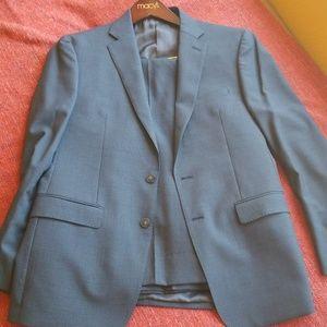 Calvin Klein suit 40R Navy Blue